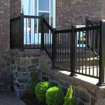 imp alum railing black porch