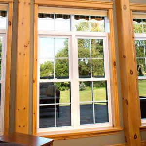 2-Lite Double Hung with Transom and Grilles
