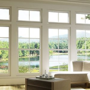 Single Hung Windows with Grilles and Transoms