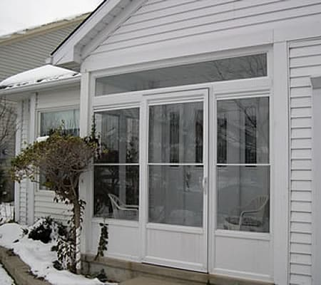 porch enclosure, storm door