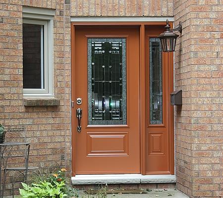 Alu-Copper Door and Sidelite
