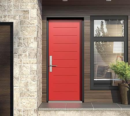 Contemporary Red Door