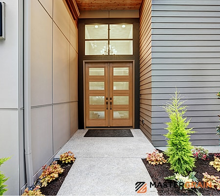 front entrance door, fiberglass doors, mastergrain